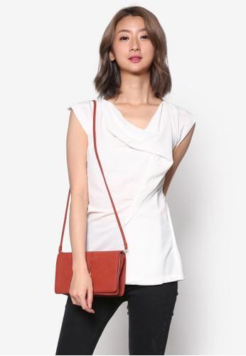 前垂墜短袖上衣esprit hk分店, 服飾, 簡約優雅風格