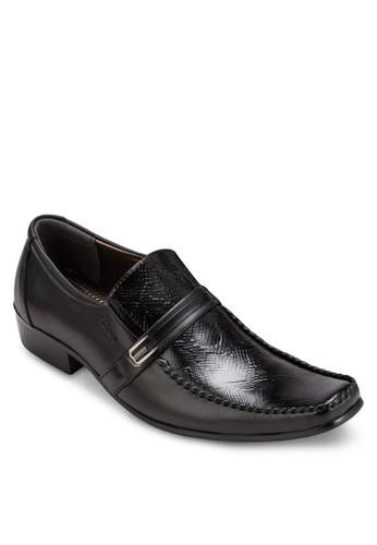 壓花方頭esprit鞋子商務皮鞋, 鞋, 皮鞋