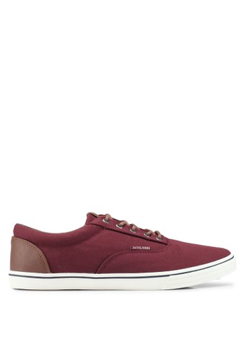 Jack & Jones red Vision Mixed Sneakers D66C9SHCAB6D03GS_1