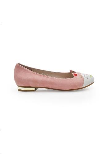 Elisa Litz pink Maneki-Neko Flats (Pink) EL365SH0FI33SG_1