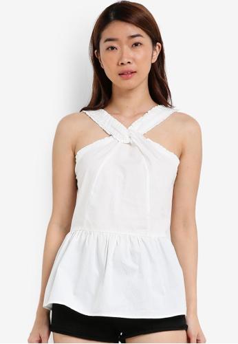 Cotton On white Peplum Tank CO372AA0S4Z7MY_1