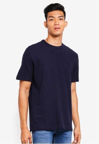 MANGO Man blue Cotton Pique T-Shirt F464AAA335CD95GS_1