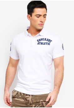 ab3118b5b6890 Superdry white Classic Superstate Pique Polo Shirt C10AFAA02FE04FGS 1