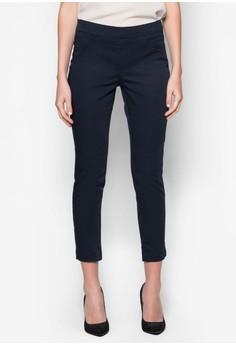 Petite Navy Side Zip Trousers