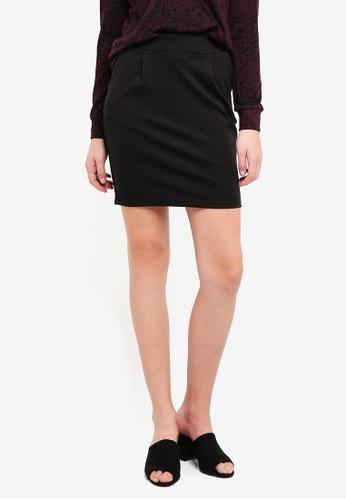 ICHI black Kate Skirt 130DDAA6E3A155GS_1