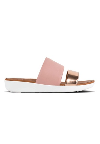 24045dc91a06 Fitflop pink Fitflop Delta Slide Sandals (Dusky Pink   Rose Gold Mirror)  5847BSH0F466CDGS 1