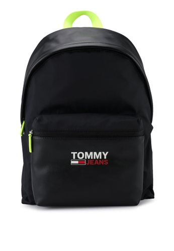 Tommy Hilfiger black Tjm Campus Twist Dome Backpack - Tommy Jeans B0A3AAC09554E7GS_1