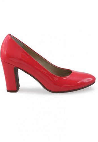 Shu Talk 紅色 圓頭漆皮高跟鞋 SH544SH099UETW_1