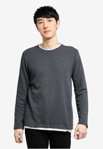 KOTON grey Knitted Sweater BCA78AA30994C1GS_1