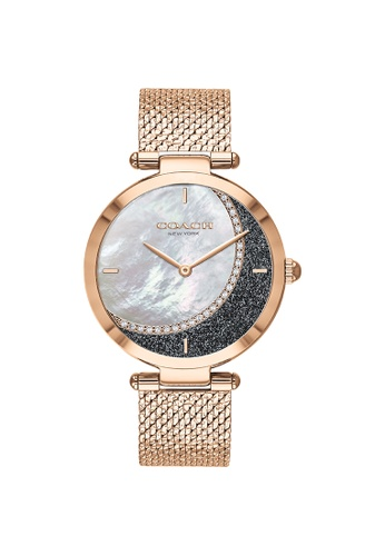 Coach multi Coach Park White Mother Of Pearl & Blue Women's Watch (14503766) F2F58AC2CDB29EGS_1