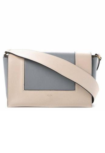 Celine white Celine Frame Medium Crossbody Bag in White,Blue AAED2AC8937C7DGS_1