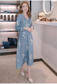 d9f62c63beb90 50% OFF Eyescream V-Neck Printed Long Sleeve Wrap Dress S  59.90 NOW S   29.90 Sizes S M L