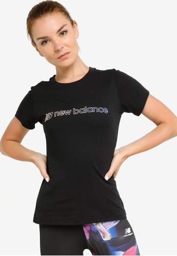 New Balance black Sport Style Optiks Short Sleeve Graphic Tee 3D2BFAA5C0A551GS_1