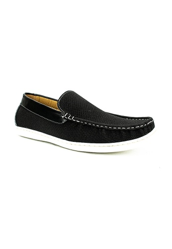 Cardam's Lifestyle black Spencer Boat Shoes 4C7D6SH8212D8DGS_1