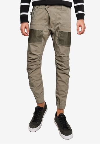 SPARROW GREEN beige SPACE X TECH Pants 3C843AADFC134EGS_1