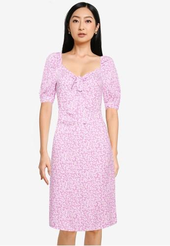 ONLY purple Sonja Puff Mini Maria-flower Dress 6BEA0AAFD1B20AGS_1