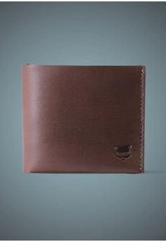 One Piece Brown Leather Wallet