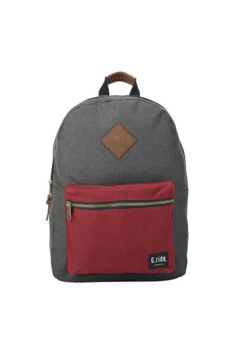 G.ride black and red Blanche Backpack GR478AC0GKSXSG_1