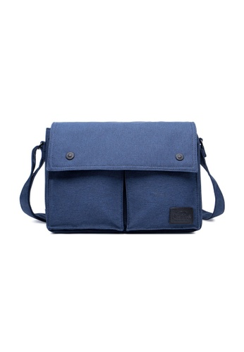 The Dude navy Wander Large Messenger TH373AC12FTVHK_1