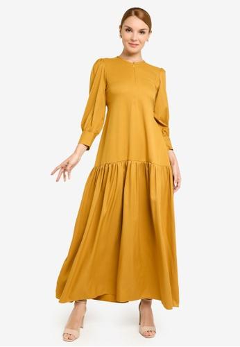 REALFANTASY yellow Inaya Dress Mustard 6C305AA0480072GS_1