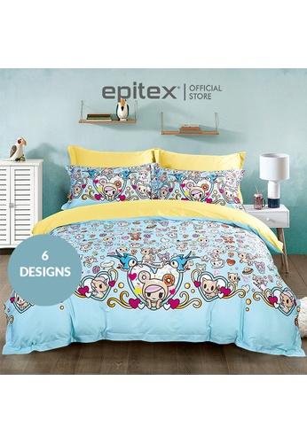 Epitex Tokidoki TK613-28 1000TC Egyptian Cotton Fitted Sheet. 4AF8CHL46982A4GS_1