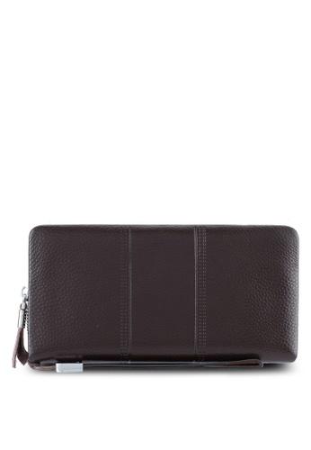 ZALORA brown Leather Large Wallet 9765EZZ84C77E7GS_1