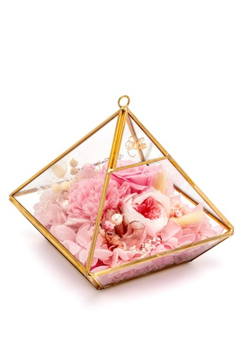 Her Jewellery pink and gold Everlasting Preserved Rose - Prism Story 28AEAHL004339EGS_1