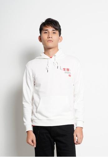Hi Style white Men Long Sleeve Hoodie Sweatshirt [Year Of Ox] 9C3BCAAC195FB8GS_1