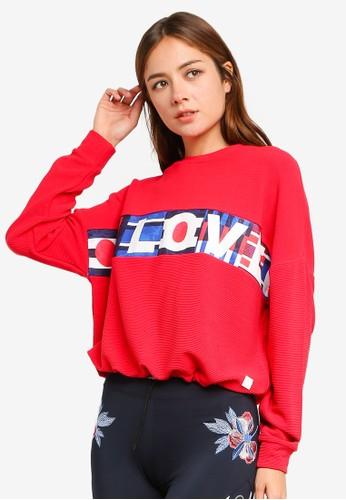 Desigual red Sweat Rib Olympia Sweater 2729FAAF72688CGS_1