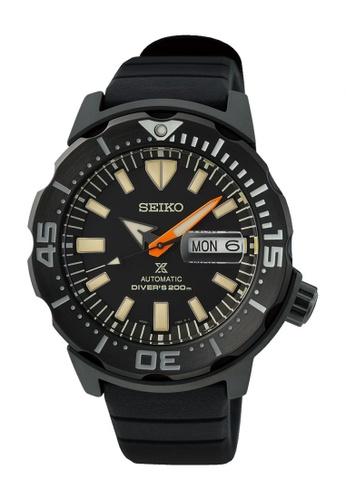 Seiko black Prospex Black Series Monster Limited Edition Automatic Diver Watch SRPH13K1 E51B4AC716DEA3GS_1