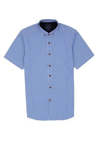 Benjamin Barker navy Ishi Printed Short Sleeves Shirt A4045AA081819BGS_1