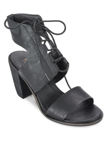 Tori 穿孔繫帶繞踝粗跟esprit outlet 香港鞋, 女鞋, 鞋