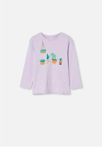 Cotton On Kids purple Penelope Long Sleeve Tee 85843KA29971DAGS_1