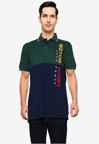 Fidelio 綠色 Motor Sport 刺繡Polo 襯衫 8E523AA27FFE3DGS_1