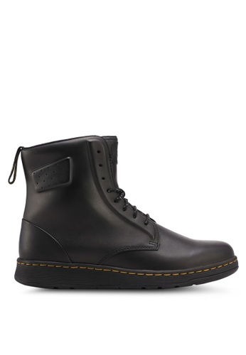 Dr. Martens black Core Ath Leisure Newton Nw 8 Eye Boots DR086SH0SX6MMY_1