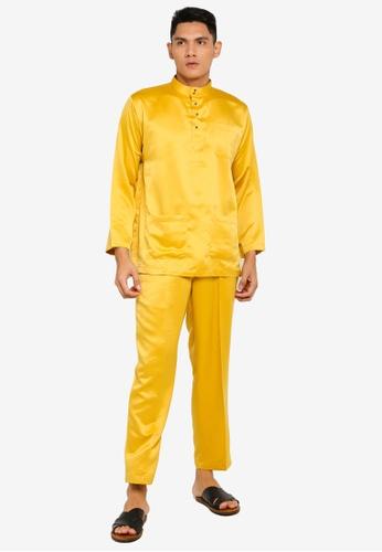 Gene Martino yellow Tradisional Baju Melayu 529C0AA268A152GS_1
