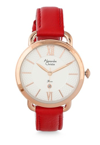 Alexandre Christie red Alexandre Christie Jam Tangan Wanita - Red Rosegold - Leather Strap - 2674 LDLRGSLRE  9E2D6AC0745F7EGS_1