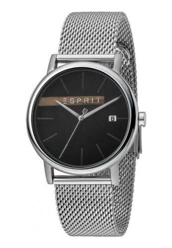 Timber Silver Mesh Esprit Men Black Es1g047m0055 thrdQsC