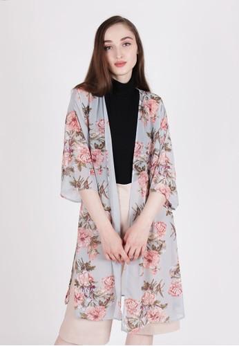 MAGNOLIA blue Floral Kimono ED7F9AA38F0B91GS_1