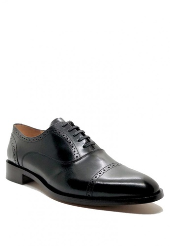 Bristol Shoes black Bolivar Captoe Brogue Oxford 432AASH4302648GS_1