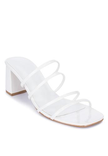 Janylin white Strappy Heeled Slides 0A5ADSHF762D67GS_1