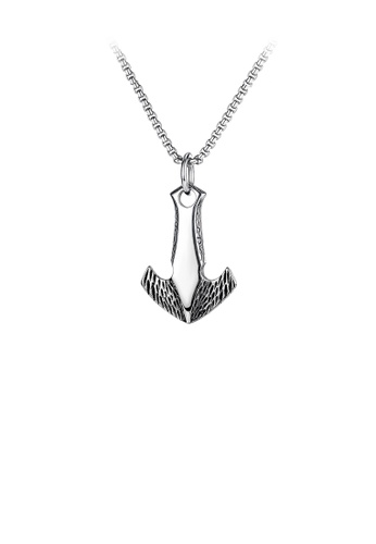 Glamorousky silver Fashion Personality Flying Spear 316L Stainless Steel Pendant with Necklace 27350ACBC84BDFGS_1