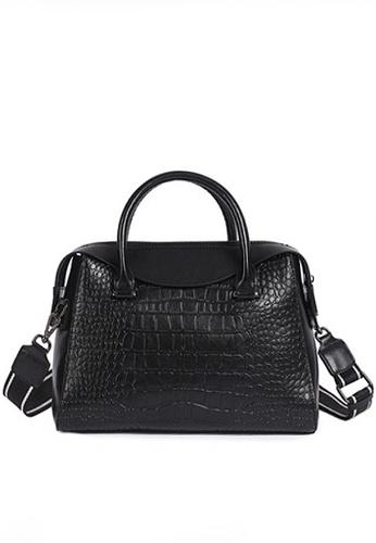 Twenty Eight Shoes black VANSA Fashion Crocodile Leather Tote Bag VBW-Tb2116 B8202AC52005ABGS_1