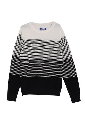 Jack & Jones white Knit Crew Neck Sweater 4E142KADA3FFA3GS_1