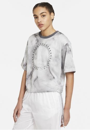 Nike grey Women's Icon Clash Short-Sleeves Mesh Tee 2CA8CAA09E6261GS_1