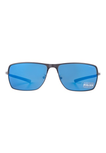 Police grey POLICE Race 2 Rectangle Gunmetal Sunglasses SPL149 PO706AC73OYSMY_1