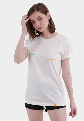 Monstore white Lets Do Social Distancing Color Tee 66E93AA104670DGS_1