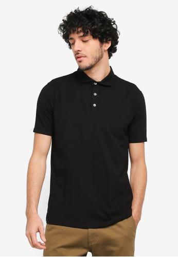 Sparrow Green black Orlando Ceramic Cotton Collared Polo Shirt SP065AA0ST5GMY_1