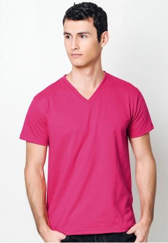 050c3c05 Shop Sunjoy Bold Pink V-Neck T-Shirt Online on ZALORA Philippines