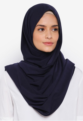 Lubna blue Basic Jersey Shawl 6FF02AAE75C3D4GS_1
